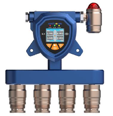 SGA-502/503/504-固定式隔爆型四氢噻吩多合一气体报警器