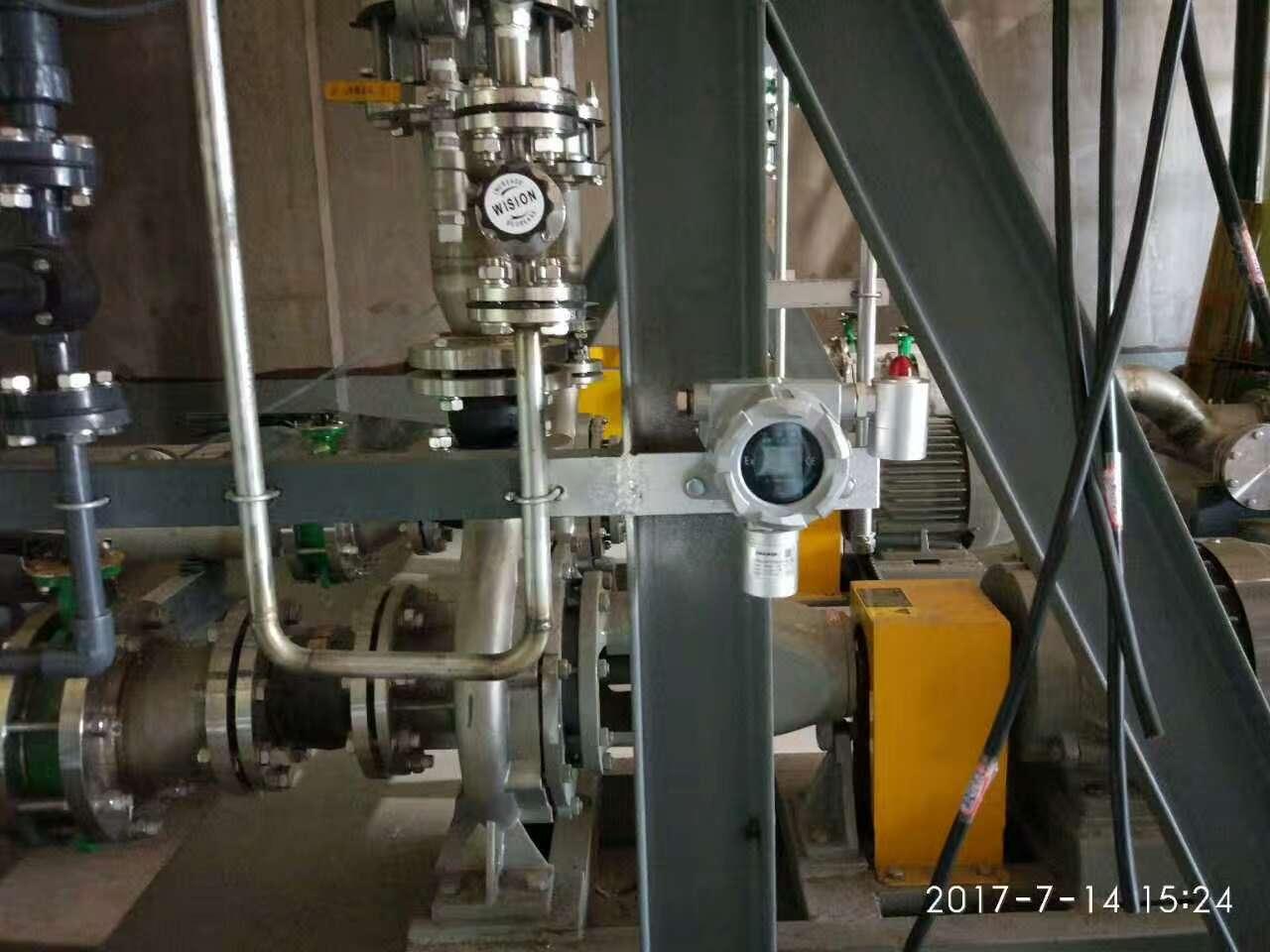 乙烯报警器检测数值跳动原因分析