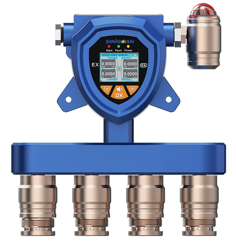 填埋厂在线复合式硫化氢浓度报警器-四位一体式氨气/TVOC/臭气气体检测仪