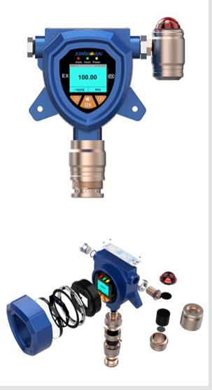 国产丙烯腈气体侦测器十大品牌-一体式丙烯腈气体报警器