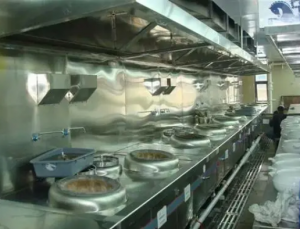 兰州拉面餐馆专用燃气泄露报警器二级报警联动抽风机